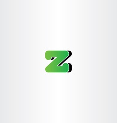 green letter z logotype symbol vector image vector image