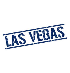 Las vegas blue square stamp vector