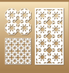laser cut panel vector image vector image