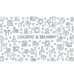 logistic and delivery banner vector image vector image