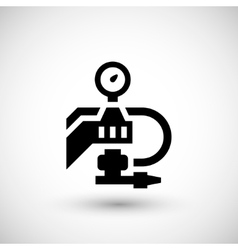 Painting machine part icon vector