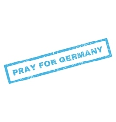 Pray for germany rubber stamp vector