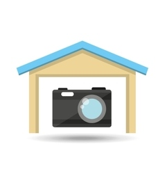 Protection camera photografy archive design vector