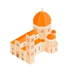Roman Cathedral icon in isometric 3d style vector image