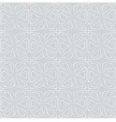 Seamless tile pattern White on gray vector image vector image