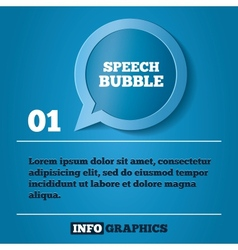 Speech bubble step background For infographics vector image