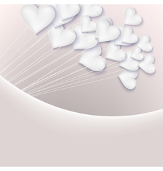 Valentine background with hearts EPS 10 vector image