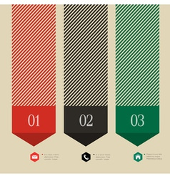 Vertical banner arrow design for infographics vector image