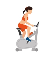 Girl spinning training gym vector