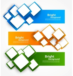 Set of banners with squares vector