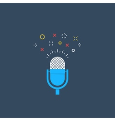 Talk show podcast icon and logo vector image