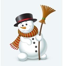 Cute christmas snowman vector