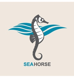 Sea horse image vector