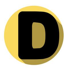 letter d sign design template element vector image
