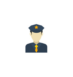 Flat icon officer element of vector