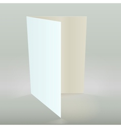 Empty greeting card isolated vector image