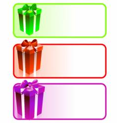 Gift box banners vector
