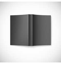 Open blank book cover top view vector