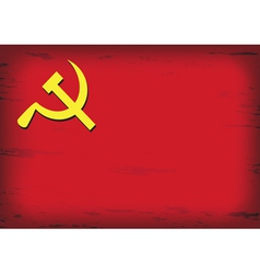 Russian or communist flags hammer and sickle vector