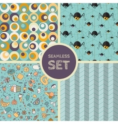 Set of four seamless background vector