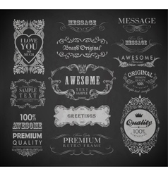 Calligraphic design elements vector