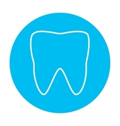 Tooth line icon vector