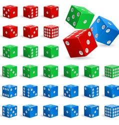 Set of realistic dice vector