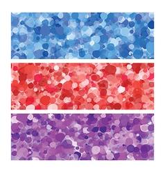 colored bubbles header set vector image