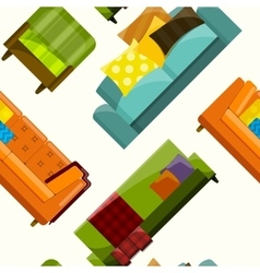 Sofa in flat seamless vector
