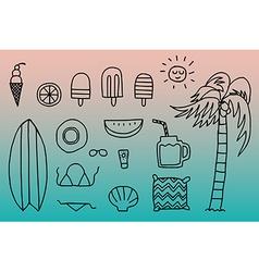 Summer season concept vector image