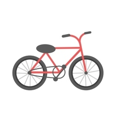 Red bicycle isolated vector