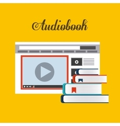 Book and website icon audiobooks design vector