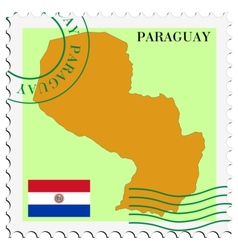mail to-from Paraguay vector image