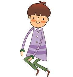 A view of boy vector image