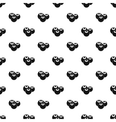 Blueberries pattern simple style vector image