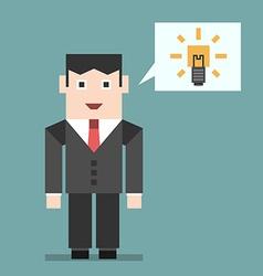 Businessman with creative idea vector image vector image