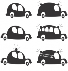 cartoon cars vector image vector image