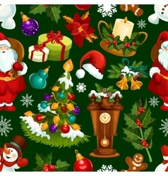 Christmas holiday seamless pattern background vector