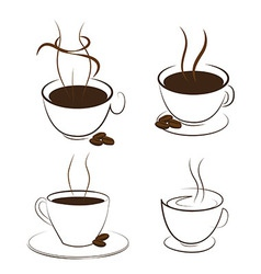 coffee and smoke vector image