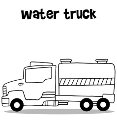 Collection of water truck transportation vector