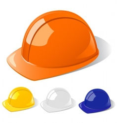 construction workers hard hat vector image vector image