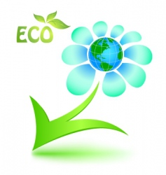 Ecological symbol with mother earth vector