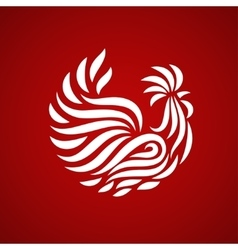 fire rooster logo vector image vector image