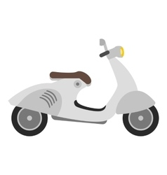 Flat scooter isolated on white vector
