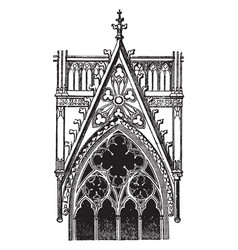 Gable over a window cologne the generally vector
