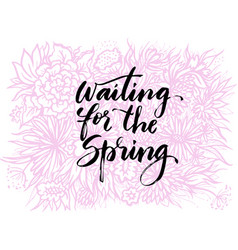 Hand drawn lettering spring them vector