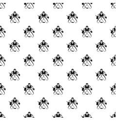 Hockey goalkeeper pattern vector