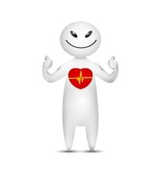 Human health concept icon vector image vector image