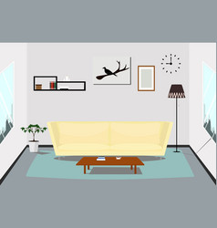 interior living room design indoor vector image