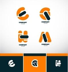 Letter logo icon set alphabet vector